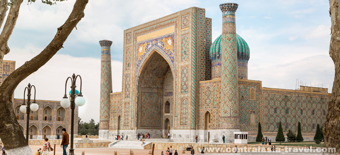 Sher-Dor Madrasah (Registan Square). Samarkand, Uzbekistan, tour to uzbekistan, Gastronomic Tour, culinary tour, great silk road