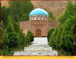 El mausoleo Rudaki. Penjikent, Tayikistán