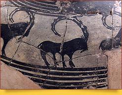 Керамический сосуд, 4 тыс. до н.э. Артефакт из Сиалка. Национальный музей Ирана. Тегеран