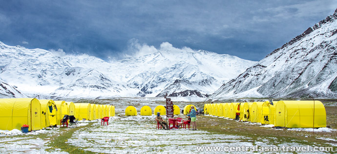 Base Camp (3600 m). Lenin peak