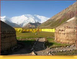 Базовый Лагерь (3600 м) компании «Central Asia Travel». Пик Ленина, Памир, Кыргызстан