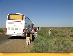 Дорога в Хиву. Природный ландшафт Узбекистана