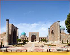 Registan Square (Ulugbek, Sher-Dor, Tilla-Kari - XV-XVII cc.). Samarkand, Uzbekistan
