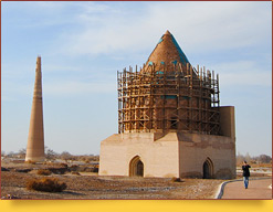 Mausoleum of Sultan Tekesh-Khorezmshah (XIII c.). Kunya-Urgench, Turkmenistan