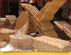 Geschnitzten Schatullen