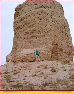 Estupa budista Zurmala. Termez, Uzbekistán