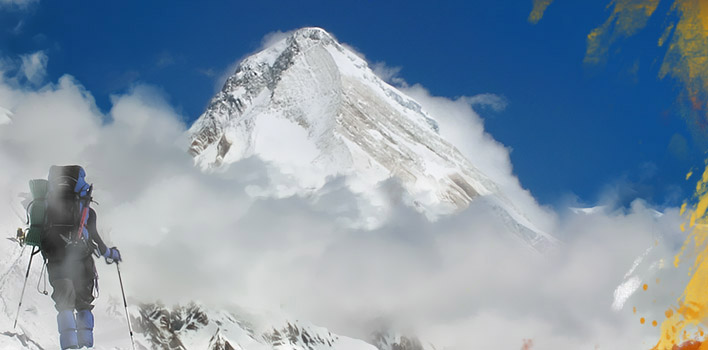 Ascent to the Khan-Tengri peak from the South and from the North