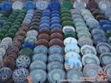 Souvenirs in Uzbekistan. Ceramic plates