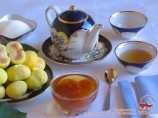 Oriental tea drinking. National cuisine of Uzbekistan