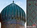 Gumbaz. Dome of Sher-Dor Madrasah (XVII c.). Samarkand, Uzbekistan