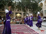 Folklore show in Nadir Divan-Beghi architectural ensemble. Bukhara, Uzbekistan