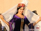 Uzbek national dress for women. The traditional Uzbek clothing
