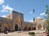 Rope-dancers` show in Muhammad Rakhim-Khan Madrasah. Khiva, Uzbekistan