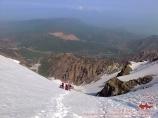 Подъем по центральному кулуару к вершине Большого Чимгана
