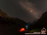 Night in the camp. Batken Region, Kyrgyzstan
