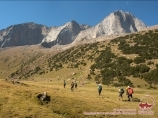 Подъем на перевал Удобный (4140 м). Район Памиро-Алая, Кыргызстан