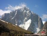 Sabah Peak (5283 m), the Pamirs. Pamir-Alay area, Kyrgyzstan