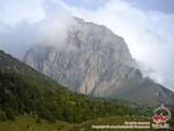 Domashnaya peak (3900 m), the Pamirs. Pamir-Alay area, Kyrgyzstan