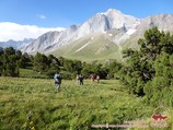 Пик Парус (5037 м). Район Памиро-Алая, Кыргызстан