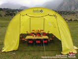The camp at the confluence of the Aksu and Karasu rivers (2860m). Pamir-Alay area, Kyrgyzstan