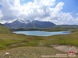 Lac Tulpar Kol. Vallée Chon-Alai, Pamir, au Kirghizistan