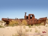 The ship in the sands on the Aral sea