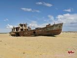Ship in the sand. Muinak, Uzbekistan