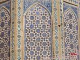 Mosaic of Bibi-Khanym Mosque. Samarkand, Uzbekistan
