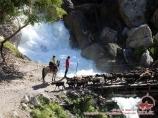 Водопад под озером Каракамыш (Кара-Суу)