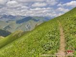 Переход к перевалу Ашуу. Тянь-Шань, Кыргызстан