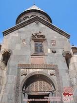Фасад монастырского комплекса Гега́рд, Котайкская область, Армения.
