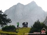 Under the Jeltaya wall peak. Batken region, Kyrgyzstan