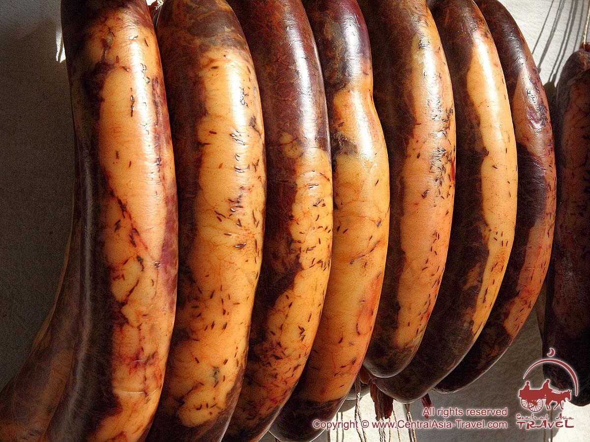 Uzbek national dish - horse sausage. Cooking at home 76