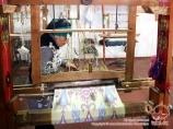 Fábrica de seda que teje