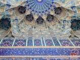Fachada del Mausoleo Gur-Emir (la tumba de Amir Temur, s.s.XIV-XV). Samarcanda, Uzbekistán