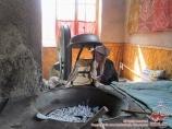 Soierie Yodgorlik. Khan-atlas fabriqué à la main. Marguilan, Ouzbékistan