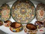 Керамические тарелки. Ремесленническое искусство Узбекистана