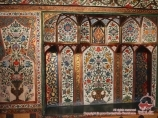 Interior decoration of the Sheki Khans palace. Shaki, Azerbaijan