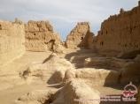 Ruins of the ancient city of Jiaohe, near Turfan, China