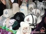Kyrgyz national hats. Osh, Kyrgyzstan