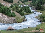 Река Аксу. Баткенский район, Кыргызстан