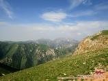 View from Moldo Ashuu Pass (3,110 m). Kyrgyzstan