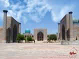 Plaza Registán (Madraza de Ulugbek, Madraza Sher-Dor, Madraza Tilya-Kari. Ss. XV-XVII). Samarcanda, Uzbekistán