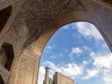 Madraza Sherdor. Plaza Reguistán, Samarkanda, Uzbekistán