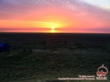 Atardecer en Mar Aral. Uzbekistán