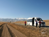 On the way to Charyn National Park