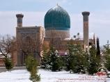 Мавзолей Гур-Эмир (усыпальница Амира Тимура - XV в). Самарканд, Узбекистан