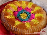 Gul-non (samarkand bread with colourful decoration).Traditional Uzbek Breads