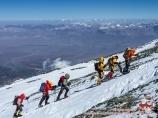 Ascent to the camp 3 (6100m). Lenin peak, Pamir, Kyrgyzstan