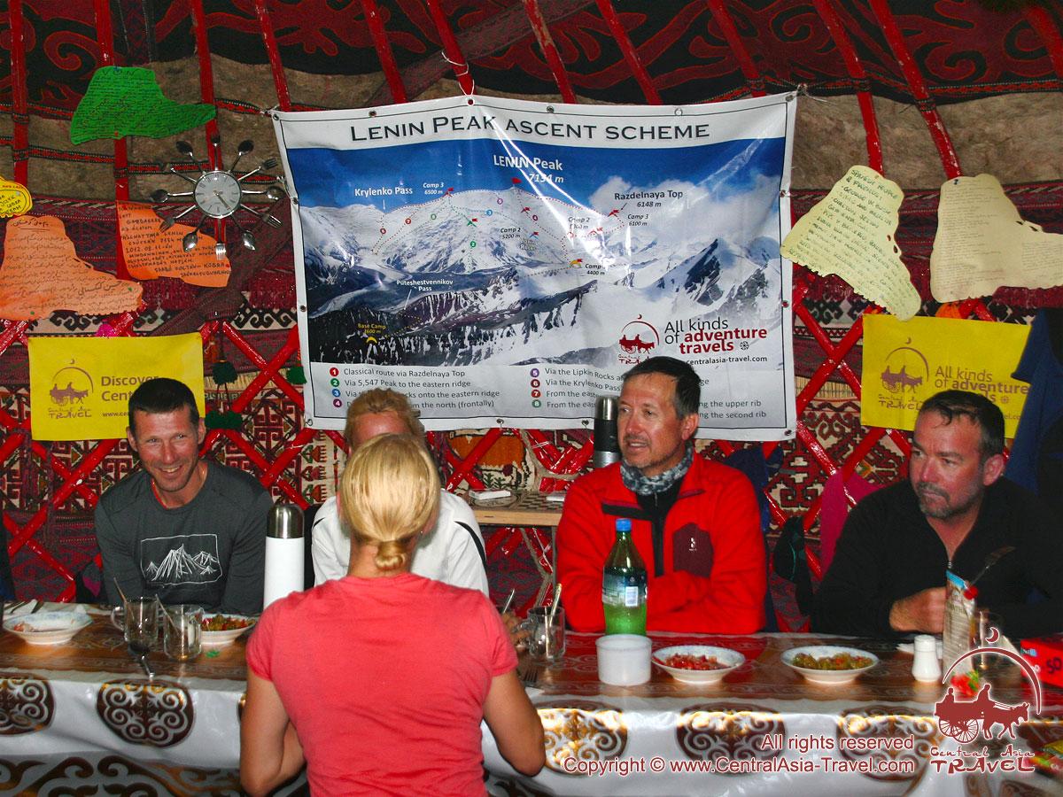 Столовая в первом лагере (4400м). Пик Ленина, Памир, Кыргызстан